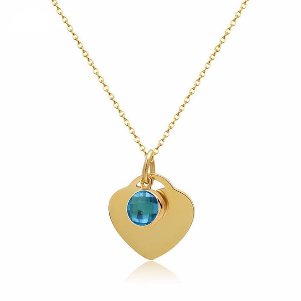 Birthstone Heart Necklace | Dorado Fashion