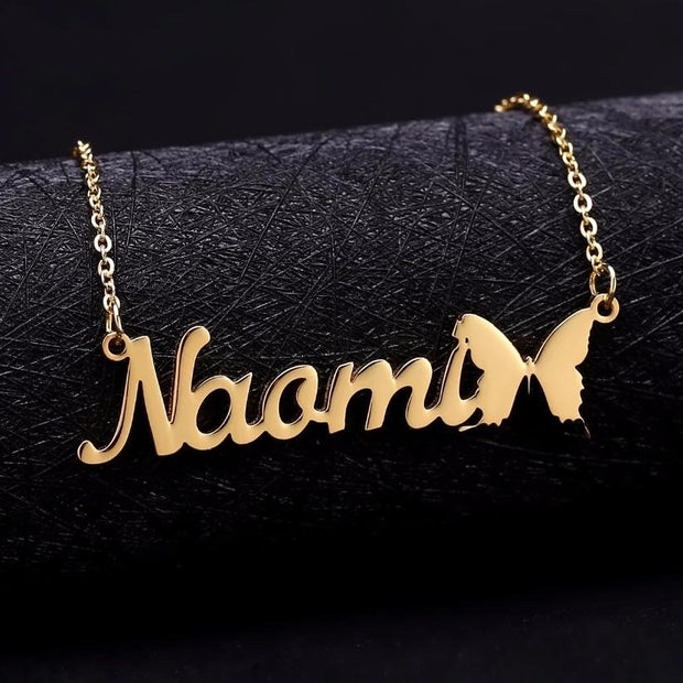 Butterfly Name Necklace | Dorado Fashion