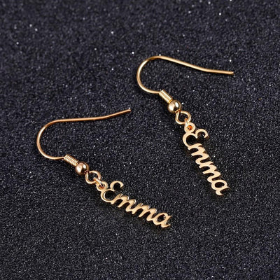 Name Drop Earrings | Dorado Fashion