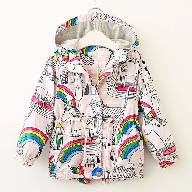 Rainbows And Unicorns Spring Coat