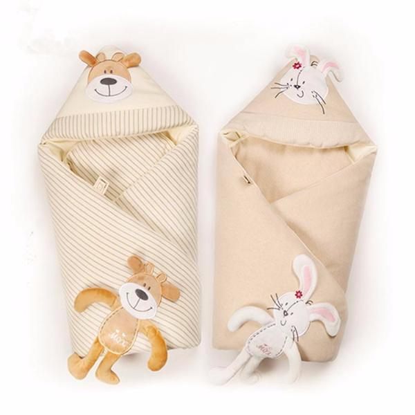 Dog&Rabbit Baby Blanket/Swaddle Wrap-newborn-Booboooutlet