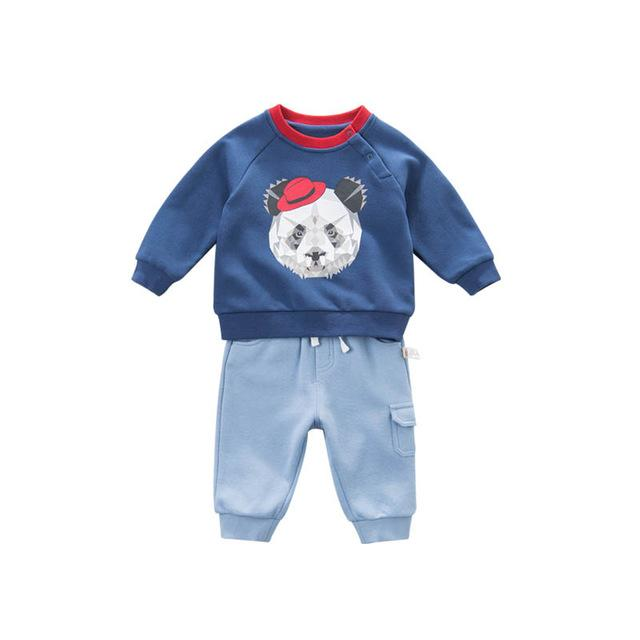 High Quality Spring Boys Clothing Set Printed Panda-Booboooutlet