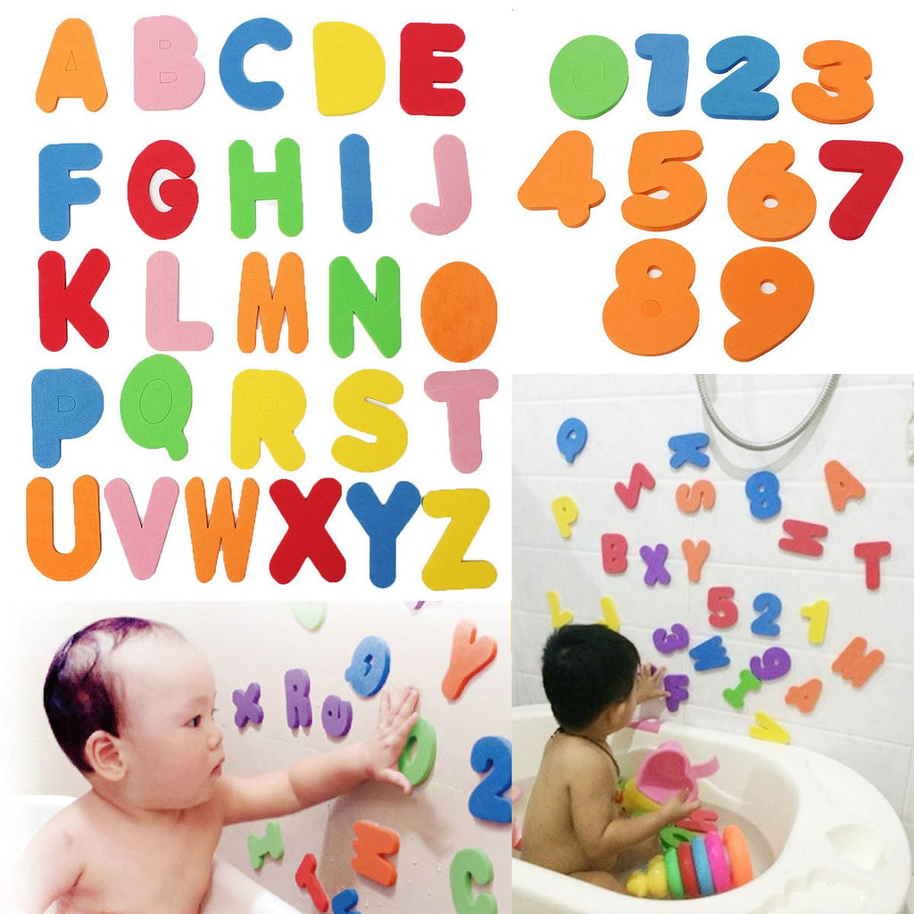 Soft Foam Letters and Numbers Bath Toy (Early Educational Tool)-Baby&Toddler Toys-Booboooutlet