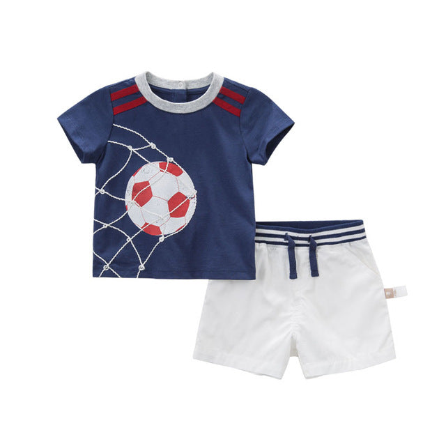 Cool summer baby boy's clothing set