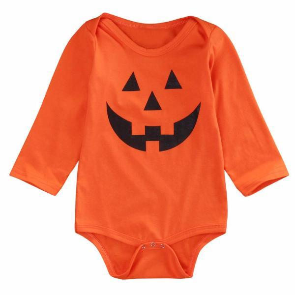 Pumpkin Halloween Orange Baby Boys & Girls Long Sleeve Rompers-Baby&Toddler-Booboooutlet