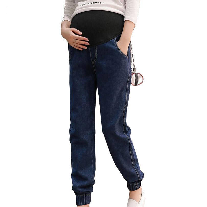 Spring Solid Pregnancy Jeans M-2XL-Booboooutlet