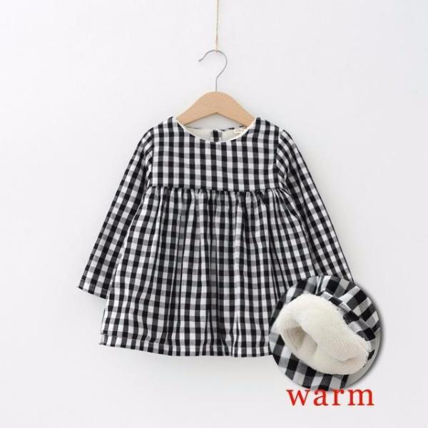 Winter Baby & Toddler Thicken Plaid Dress-Baby&Toddler-Booboooutlet