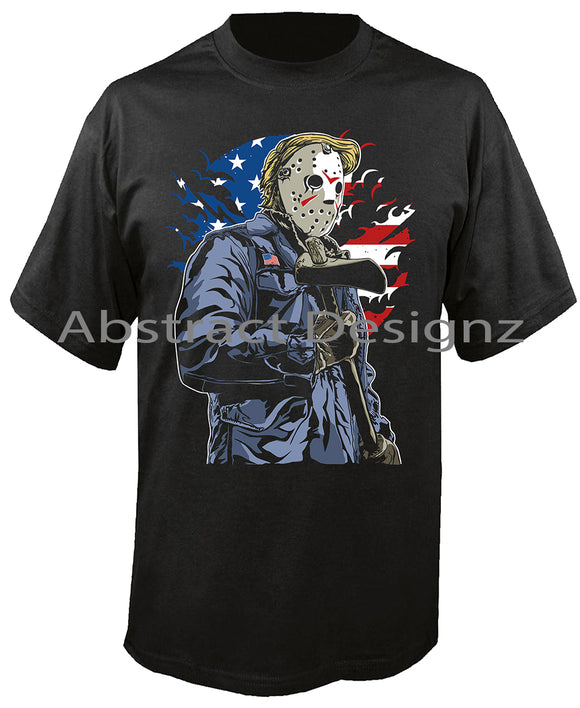 Black T-Shirt, Halloween, T-Shirt, Jason, Horror, Tee, Scary, Friday the 13