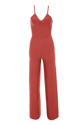 Love Galore Red Strappy Bandage Jumpsuit - PYNK CONFESSIONS
