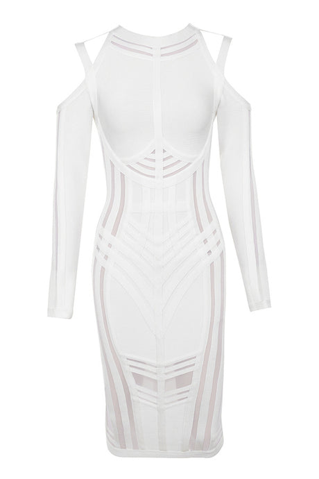 Snow White Mesh Bandage Dress - PYNK CONFESSIONS