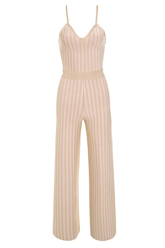 Love Galore Nude Strappy Bandage Jumpsuit - PYNK CONFESSIONS