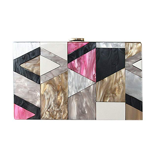 'Jae' Detailed Multi-Color Acrylic Clutch - PYNK CONFESSIONS