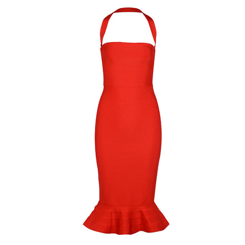 Red Mermaid Bandage Dress