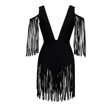 Chic Madness Black Fringe Mini Dress - PYNK CONFESSIONS
