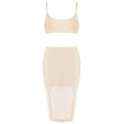 Mesh Two Piece Mesh Bandage Set - PYNK CONFESSIONS