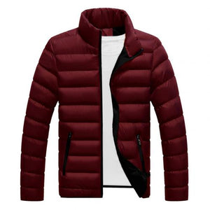 Winter mens slim jackets warm thick mens casual long sleeve washable wrinkle free warm winter jacket mens