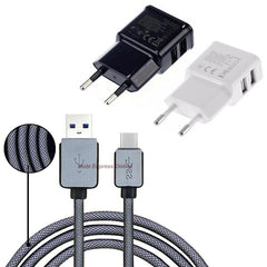 0.2M/1M/1.5M/3M For Samsung Galaxy S8/Plus A3/A5/A7 2017 Oneplus 5/3 USB Type C USB-C Cable EU Wall Mobile Phone Charger Adapter