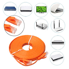 0.5m/1m/2m/3m/5m/8m/10m/15m FLAT Ethernet CAT6 Cable Network Cable Patch Lead RJ45 Patch LAN cable for PS4/Xbox/PC/Smart TV