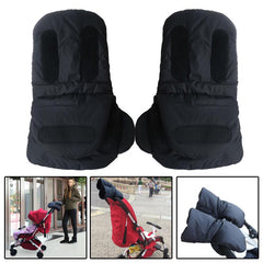 1 Pair Baby Pram Stroller Gloves Warm Fleece Pushchair Hand Gloves Baby Buggy Clutch Cart Muff Gloves Stroller Accessories