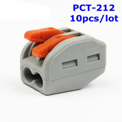 (10 stks/partij) 222-412 PCT-212 PCT212 Universal Compact Wire Bedrading Connector 2 pin Dirigent Terminal Block Hendel 0.08-2.5mm2