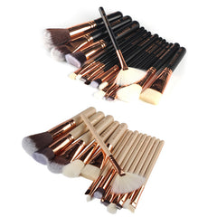 15Pcs/set Professional Nylon Fibre Rose Gold Makeup Brushes Set Kit Foundation Brush Tool Beauty Tools pincel maquiagem
