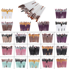 20 Pcs Professional Brushes Set Beauty Contour Makeup Brushes Set Tools Pincel Maquiagem Makeup Brushes Eyeshadow Brushes Set