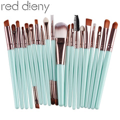 20Pcs 22 Color Eye Makeup Brushes Set Eyeshadow Foundation Eyeliner Eyebrow Lip Contour Blending Cosmetic Brush Beauty Maquiagem