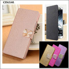 (3 Styles) PU Leather Luxury Flip Case For ZTE Blade GF3 GF 3 T320 4.5 Cover For ZTE GF3 Case Bling Crystal Rhinestone Phone Bag