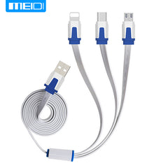 (3 in 1 Mobile Phone Cable)MEIDI USB Cable For iPhone8X 7 6 6s 5  se Charger Type C Micro USB Cable For Android amsung S5 S6 S7
