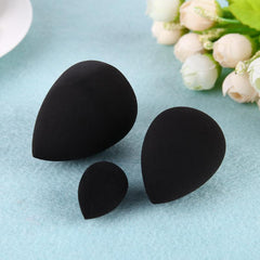 3pcs Black Makeup Foundation Sponge Puff Powder Blender Blending Cosmetic Smooth Beauty Make Up Tool Women Foundation