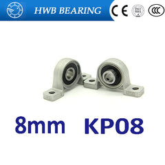 (4PCS)  KP08  Zinc Alloy  Pillow Block Bearing 8MM KP08 kirksite bearing insert bearing shaft support mounted bearings