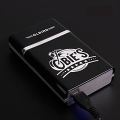 (8 Cigarette ) Novelty Electronic USB Cigarette Case Lighters Charging Electric Wire Windproof Lighter Cigarette Box Men Gif
