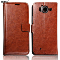 $IDOOLS Wallet PU Leather Case for Microsoft Lumia 640xl Phone Cover for Nokia lumia 950 950xl 640 640XL 930 730 630 650 435