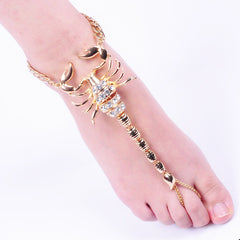 Europe and the United States new alloy scorpion Anklet jewelry personality