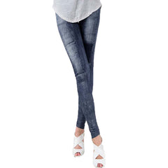 Skinny Slim Denim Leggings For Women Thin Autumn Leggins Jeggings High Elastic Waist Washed Jeans Jeggings Pencil Pants