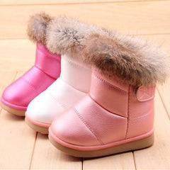 1 pair free shipping winter The New Children boots girls Soft bottom baby thick snow boots aXZ0083