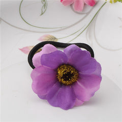 Beautiful Fabric Flower Rubber Headbands Gum for Hair Summer Style Hair Accessories Hair Ring Women Elastic Hair Bands