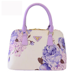 2016 New Shell Flower PU Lleather Women Handbags Shoulder Bag For Female Designer Printing Ladies Hand bag Famous Brand Tote