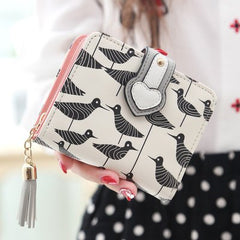 2016 New fresh Women Wallet Lovely Cartoon Printed Unicorn Wallet hasp Soft Leather Clutch Purse Short Card Coin Lady Bag Gift