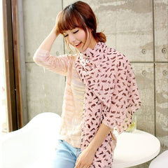 1 pc High Quality The Cat Design Scarf Beautiful Charming  Scarf As A Good Gift women clothing accessories