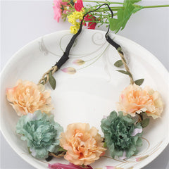 Newly Design Beauty Flower Headbands Women Wreath Wedding Floral Garland For Girl Hair Band Casual Female Bloom Hair Accessories