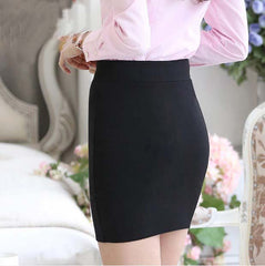 1 pc 2016 spring and summer Women Skirt  High Waist Pencil Skirts Elastic Slim Office  Black  Skirt Two styles