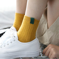 1Pair Fashion New Colorful Design Art Women's Socks Warm High Quality Autumn Winter Socks For Women Solid Color Female Socks