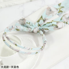 New Fashion Hair Accessories Print Flowers Chiffon Head Bands Girls Hairband Hair Bows Elegance Beauty Headbands for Women