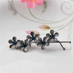 M MISM 2017 New Women Beautiful Rhinestone Decorate Hair Clip Flower Hairpins Hair Accessories Fashion Diamond Barrettes Jewelry