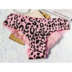 1 pcs Charming Women Lace Briefs Lady Love Sexy Pink Heart Panties Women's Low Waist Intimates Leopard Underwear
