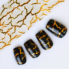 NEW 100x4cm Gold Stripe Hot Designs Stamps on Nails Toes Nail Art Transfer Foils Polish Decor Sticker Accessory STZXK40
