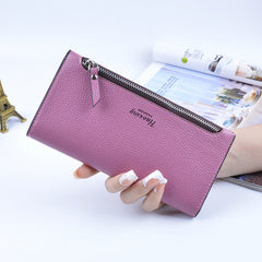 2017 Designer Zipper Women Leather Slim Long Wallet Female Purse Clutch Thin Wristlet Phone Coin Credit Card Holder Dollar Price