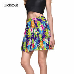 Qickitout Skirts High Quality Women's New Arrival Pineapple & Flowers Skirts High Waist Sexy Package Hip Skirt Wholesale