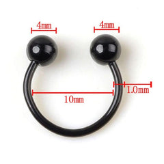 1 PCStainless Steel Circular Horseshoe Ring Nose Hoops Ring And Septum Rings Tragus Piercing Wholesales Jewelry